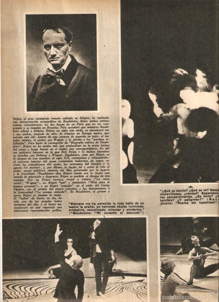 Coleccionismo de Revistas y Periódicos: 1969 BALLET POESIA BAUDELAIRE BEJART HUMOR BELLUS MINGOTE TEATRO CHICAS DE REVISTA RUBEN DARIO - Foto 3 - 55776510