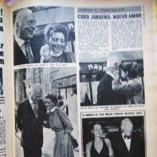 Coleccionismo de Revistas y Periódicos: RECORTE CURD JURGENS . Lote 55788960