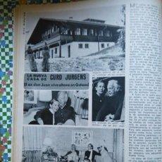 Coleccionismo de Revistas y Periódicos: RECORTE CURD JURGENS. Lote 55792982