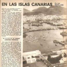 Coleccionismo de Revistas y Periódicos: AÑO 1969 CARICATURA DAMASO ALONSO HUMOR BELLUS MINGOTE KIRAZ ISLAS CANARIAS VIAS DE COMUNICACION. Lote 55829965