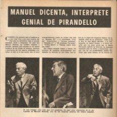 Coleccionismo de Revistas y Periódicos: AÑO 1969 AUSTRALIA ARTHUR KOESTLER HUMOR BELLUS MINGOTE KIRAZ MANUEL DICENTA PIRANDELLO TEATRO. Lote 55890532