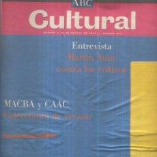 Coleccionismo de Revistas y Periódicos: ABC CULTURAL - 12 AGOSTO 2000. Lote 55896545