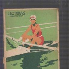 Collezionismo di Riviste e Giornali: LECTURAS AGOSTO 1927. Lote 55955366