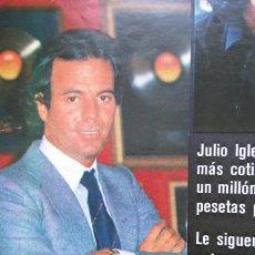 Coleccionismo de Revistas y Periódicos: RECORTE JULIO IGLESIAS. Lote 56031785