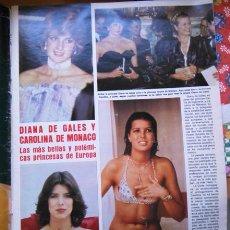 Coleccionismo de Revistas y Periódicos: RECORTE CAROLINA DE MONACO DIANA DE GALES . Lote 56077664