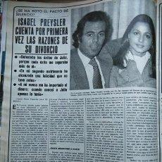 Coleccionismo de Revistas y Periódicos: RECORTE JULIO IGLESIAS ISABEL PREYSLER . Lote 56108821