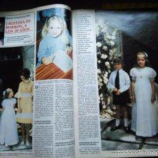 Coleccionismo de Revistas y Periódicos: RECORTE INFANTA DOÑA CRISTINA. Lote 166746820