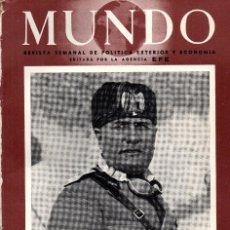 Coleccionismo de Revistas y Periódicos: MUNDO REVISTA SEMANAL, Nº 6, 16 DE JUNIO DE 1940. Lote 56116427
