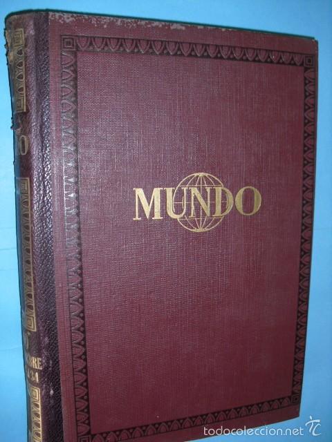 MUNDO REVISTA SEMANAL,DE 1940, TOMO CON 13 REVISTAS (Coleccionismo - Revistas y Periódicos Modernos (a partir de 1.940) - Otros)