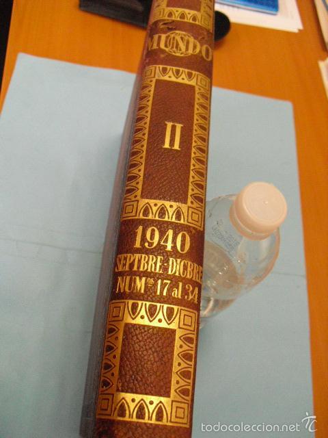 Coleccionismo de Revistas y Periódicos: mundo revista semanal,de 1940, tomo con 13 revistas - Foto 2 - 56126848