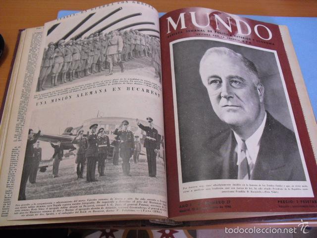 Coleccionismo de Revistas y Periódicos: mundo revista semanal,de 1940, tomo con 13 revistas - Foto 3 - 56126848