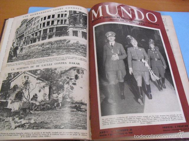Coleccionismo de Revistas y Periódicos: mundo revista semanal,de 1940, tomo con 13 revistas - Foto 4 - 56126848