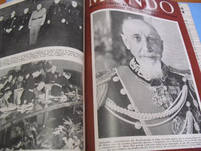 Coleccionismo de Revistas y Periódicos: mundo revista semanal,de 1940, tomo con 13 revistas - Foto 6 - 56126848