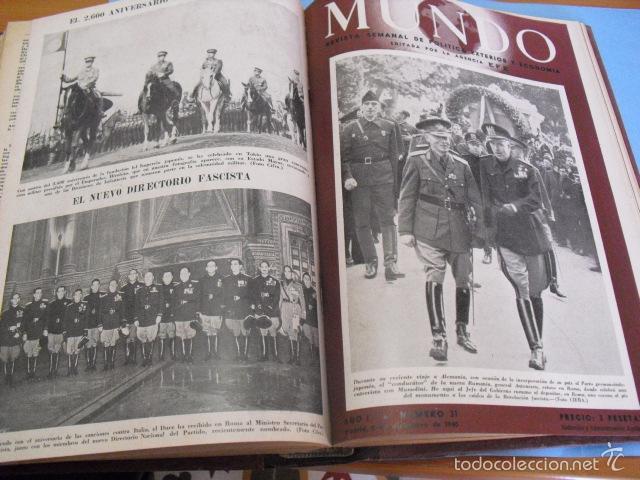 Coleccionismo de Revistas y Periódicos: mundo revista semanal,de 1940, tomo con 13 revistas - Foto 8 - 56126848