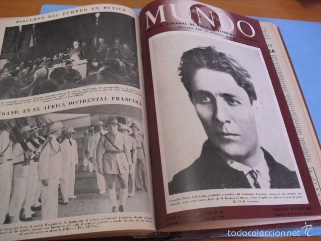 Coleccionismo de Revistas y Periódicos: mundo revista semanal,de 1940, tomo con 13 revistas - Foto 9 - 56126848