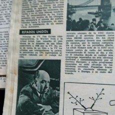 Coleccionismo de Revistas y Periódicos: RECORTE ALFRED HITCHCOCK 1960. Lote 56158544