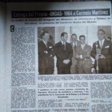 Coleccionismo de Revistas y Periódicos: RECORTE CARMELO MARTINEZ. Lote 56174291