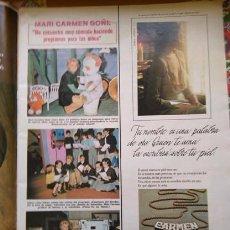 Coleccionismo de Revistas y Periódicos: RECORTE MARI CARMEN GOÑI. Lote 171788472
