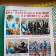 Coleccionismo de Revistas y Periódicos: RECORTE LOS PAYASOS DE LA TELE EMU Y RODY DEBUT EN EL PARQUE DE ATRACCIONES. Lote 183868442