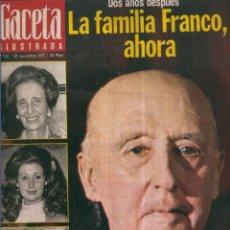 Coleccionismo de Revistas y Periódicos: GACETA ILUSTRADA - 20 DE NOVIEMBRE DE 1977. Lote 56211970