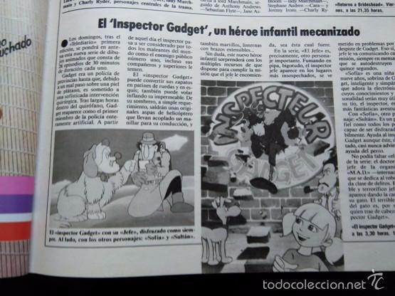 RECORTE INSPECTOR GADGET (Coleccionismo - Revistas y Periódicos Modernos (a partir de 1.940) - Otros)