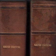 Coleccionismo de Revistas y Periódicos: ABEND- ZEITUNG / REVISTA DE 1841 ( AÑO ENTERO) - 2 TOMOS - THEODOR BELL / MUNDI-1510 *****. Lote 56222193