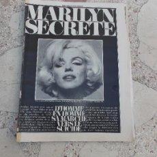 Colecionismo de Revistas e Jornais: DOCUMENT PARIS MATCH,(2 PARTE)SOLO EL REPORTAJE DE MARILYN MONROE SECRETE, 8 PAGINAS,5 FOTOS. Lote 56227050