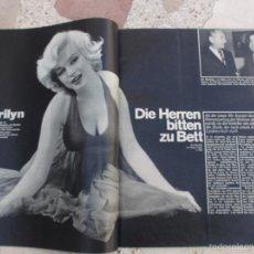 Colecionismo de Revistas e Jornais: REVISTA STERN,FECHA DESCONOCIDA, SOLO EL REPORTAJE DE MARILYN MONROE,5 PAGINAS,5 FOTOS ,EN ALEMAN. Lote 56227795
