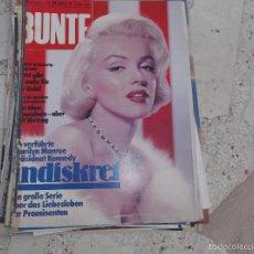 Colecionismo de Revistas e Jornais: BUNTE JULIO-81, SOLO EL REPORTAJE DE MARILYN MONROE, EN ALEMAN,6 PAGINAS,4 GRANDES FOTOS . Lote 56228389