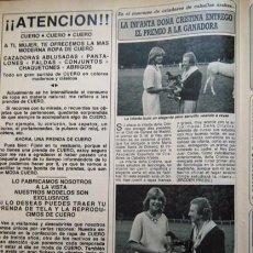 Coleccionismo de Revistas y Periódicos: RECORTE INFANTA DOÑA CRISTINA. Lote 56236292