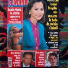 Coleccionismo de Revistas y Periódicos: SEMANA / LINA MORGAN, IMANOL ARIAS, MICHAEL JACKSON, ISABEL PREYSLER, CARMEN CERVERA, ROSA VALENTY. Lote 56242987