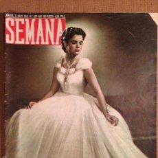 Coleccionismo de Revistas y Periódicos: REVISTA SEMANA - BELLEZAS ESPAÑOLAS - MAYO 1952. Lote 56265244