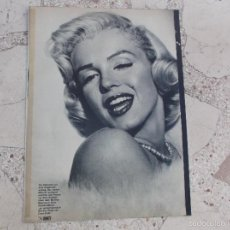 Colecionismo de Revistas e Jornais: REVISTA BUNTE, SIN FECHA,SOLO EL REPORTAJE DE MARILYN MONROE, 7 PAGINAS ,12 FOTOS ,EN ALEMAN. Lote 56269097