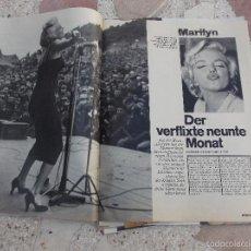 Colecionismo de Revistas e Jornais: REVISTA STERN,1973, SOLO EL REPORTAJE DE MARILYN MONROE,5 PAGINAS,5 FOTOS ,EN ALEMAN. Lote 56270689