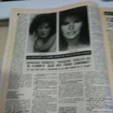 Coleccionismo de Revistas y Periódicos: RECORTE EDWIGE FENECH RAQUEL WELCH . Lote 56285471