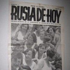 Coleccionismo de Revistas y Periódicos: RUSIA DE HOY - ASOCIACION AMIGOS UNION SOVIETICA - NUM 3 -AGOSTO 1933- PRE GUERRA CIVIL -(V-5267). Lote 56302529