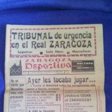Coleccionismo de Revistas y Periódicos: DIARIO ZARAGOZA DEPORTIVA / NÚM. 703 / 31 DE ENERO 1966. Lote 56381819