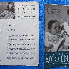Coleccionismo de Revistas y Periódicos: REVISTA PUBLICACIONS D'ACCIÓ EDUCATIVA ELS 5 PRIMERS NÚMEROS. DÉCADA DE 1930.. Lote 56386531