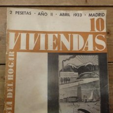 Coleccionismo de Revistas y Periódicos: REVISTA ARQUITECTURA Y DECORACION, VIVIENDAS, Nº10, ABRIL 1933,40 PAGINAS. Lote 56464814