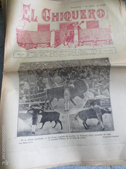 REVISTA TAURINA EL CHIQUERO AÑO XL ZARAGOZA 7 DE JUNIO 1926 Nº 2111 (Coleccionismo - Revistas y Periódicos Antiguos (hasta 1.939))