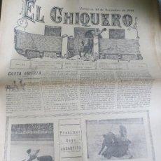 Coleccionismo de Revistas y Periódicos: REVISTA TAURINA EL CHIQUERO AÑO XL ZARAGOZA 21 DENOVIEMBRE DE 1926 Nº 2138. Lote 56481571