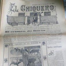 Coleccionismo de Revistas y Periódicos: REVISTA TAURINA EL CHIQUERO AÑO XL ZARAGOZA 14 DE NOVIEMBRE DE 1926 Nº 2137. Lote 56481584