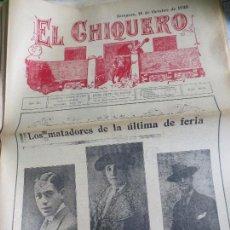 Coleccionismo de Revistas y Periódicos: REVISTA TAURINA EL CHIQUERO AÑO XL ZARAGOZA 18 DEOCTUBRE DE 1926 Nº 2133. Lote 56481612