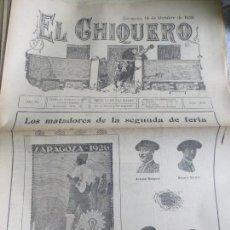 Coleccionismo de Revistas y Periódicos: REVISTA TAURINA EL CHIQUERO AÑO XL ZARAGOZA 14 DE OCTUBRE DE 1926 Nº 2131. Lote 56481639