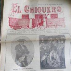 Coleccionismo de Revistas y Periódicos: REVISTA TAURINA EL CHIQUERO AÑO XL ZARAGOZA 6 DE SEPTIEMBRE DE 1926 Nº 2124. Lote 56481670