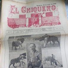 Coleccionismo de Revistas y Periódicos: REVISTA TAURINA EL CHIQUERO AÑO XL ZARAGOZA 2 DE AGOSTO DE 1926 Nº 2119. Lote 56481734