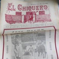Coleccionismo de Revistas y Periódicos: REVISTA TAURINA EL CHIQUERO AÑO XL ZARAGOZA 10 DE MAYO DE 1926 Nº 2107. Lote 56481773