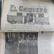 Coleccionismo de Revistas y Periódicos: REVISTA TAURINA EL CHIQUERO AÑO XL ZARAGOZA 6 DE MARZO DE 1926 Nº 2097. Lote 56481974