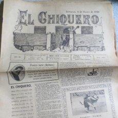 Coleccionismo de Revistas y Periódicos: REVISTA TAURINA EL CHIQUERO AÑO XL ZARAGOZA 2 DE ENERO DE 1926 Nº 2088. Lote 56482259