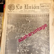 Coleccionismo de Revistas y Periódicos: SEVILLA, 1932, PERIODICO LA UNION , BETIS -SEVILLA, LERROUX, GIL ROBLES, ETCC...20 PAGINAS. Lote 56489211